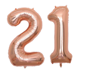 Inflatable number balloons - 21